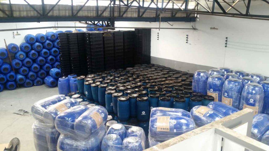 Uma foto panorâmica da empresa Casológica e seus produtos do reuso de água