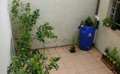 Kit Mini Cisterna no Jardim