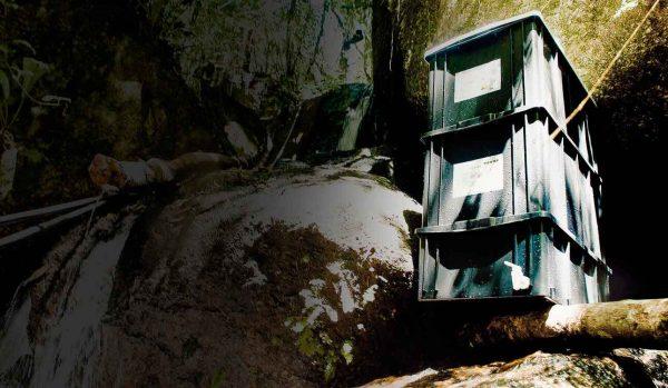 Composteira Casológica na cachoeira em Piedade - escuro
