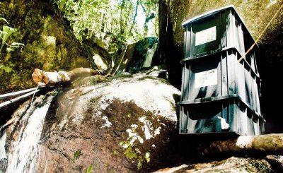 Composteira Doméstica Casológica na cachoeira em Piedade