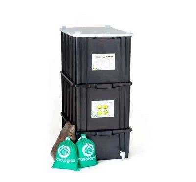 Kit Composteira tamanho G Completo lado