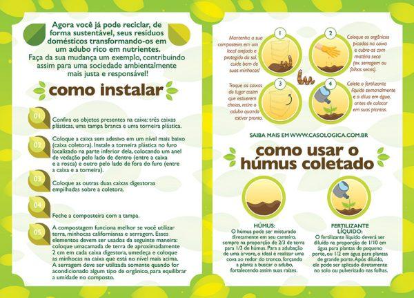 Manual de como fazer compostagem com a composteira